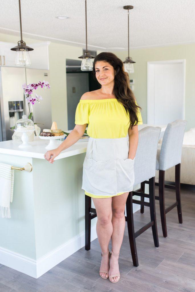 Jules, in her kitchen.