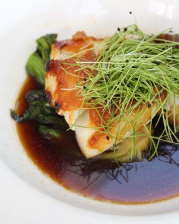 Miso braised sea bass, incredible!
